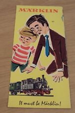 "1960 Advertising Brochure/Catalog~""MARKLIN Model TRAINS"" Pricing~RAILROAD~"