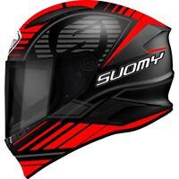 Casco integrale moto carbonio Suomy Speedstar Sp1 nero opaco Rosso Taglia L
