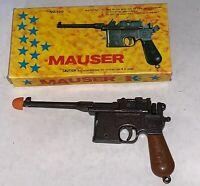 Rare Miniature Mauser Military M-1896 Gun Machine Gun Pistol with Box! Vintage!