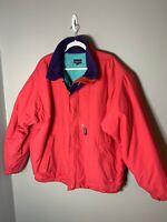 VINTAGE Patagonia Jacket Bomber Pocket Red Windbreaker 90's Mens XL size
