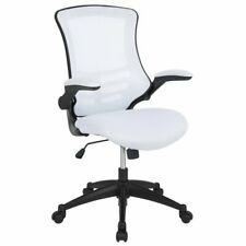 Flash Furniture Mid Back Mesh Office Swivel Chair in White