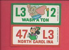1976 Wonder Bread Disney License plate sticker WASH A TON