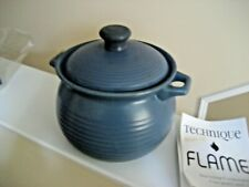 TECHNIQUE FLAME STOVETOP (STONEWARE) COOKWARE - NEVER USED IN BLUE