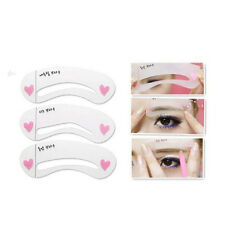 3Styles Grooming Stencil Kit Shaping Eyebrow Template DIY Beauty Make Up Tool