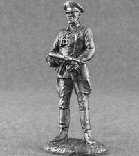 WW2 Hauptsturmführer SS Tin Metal Action Figure 1/32 German Toy Soldiers 54mm