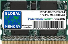 512MB DDR2 533MHz PC2-4200 172-PIN MICRODIMM MEMORY RAM FOR LAPTOPS/NOTEBOOKS