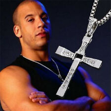 Fast and Furious Movie Dominic Toretto's Silver Cross Chain Necklace UK Seller