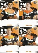 2019 Nrl Traders Faces of the Game 4 Card Set WESTS TIGERS