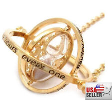 NEW US Seller Harry Potter Gold Time Turner Hermione Granger Rotating Necklace