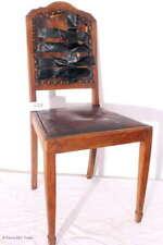 Antiker Jugendstil Hochlehnstuhl Salonstuhl Ritterstuhl Lederstuhl zum Aufarbeit