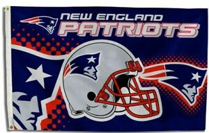 New England Patriots Helmet Flag ~ Large 3'X5' ~ NFL Banner ~ FREE SHIPPING