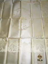 "Antique New n Box Swedish Bjornlinne Damask Lunch Cloth Fabric 39 1/2"" square"