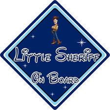 Pequeño Sheriff A Bordo Coche Firmar-Bebé a bordo-Disney Toy Story Woody DB