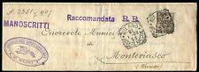 1908 - Raccomandata con cent.40 Floreale - Sassone n.74 - uso singolo