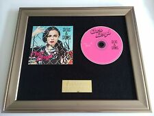 SIGNED/AUTOGRAPHED CHER LLOYD - STICKS & STONES FRAMED CD PRESENTATION.