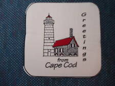 6 fabric pieces: LIGHTHOUSE - CAPE COD Greetings