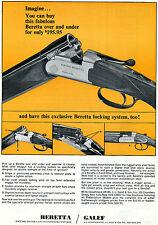1965 Print Ad of JL Galef Beretta Silver Snipe Over and Under Shotgun