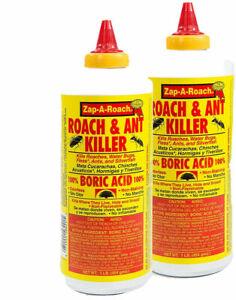 Zap-A-Roach Roach &  Ant Killer Powder Large 1 lb. Bottles 2 Pack