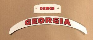 Georgia Bulldogs 3D Bumper Set Front And Rear Speed Helmet