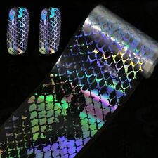 4*100cm Holographic Nail Foil Laser Snake Pattern Transfer Nail Art Stickers