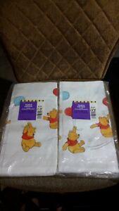 Hallmark Winnie The Pooh 2 Vintage Paper Tablecloth 54x89 1/4 Happy Birthday New