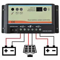 20a 20 amp DUAL BATTERY SOLAR CHARGE CONTROLLER REGULATOR MOTORHOME CAMPER t4 t5