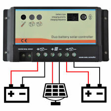 20a 20 amp DUAL BATTERY SOLAR CHARGE CONTROLLER REGULATOR MOTORHOME CAMPER t4 t5