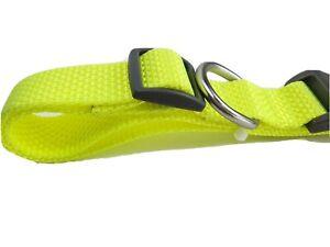 Boots & Barkley Basic Adjustable 16'' to 26'' Dog Collar Large Yellow Neon