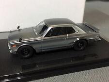 Rare - 1/43 Scale Die-Cast Model Silver Car - Ebbro MMP 1/43 Nissan Skyline GT-R