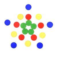 50x Count Bingo Chips Marker für Bingo Spielkarten Kunststoff Poker Chips  TG