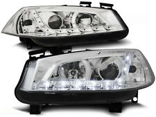 renault megane ii 2002 2003 2004 2005 headlights lpre15 led daylight chrome