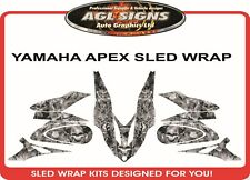 YAMAHA APEX 2006 2007 2008 2009 2010 2011  SKULL SLED WRAP    DECAL  STICKER
