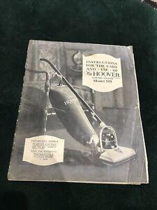 Vintage 1930s Hoover Vacuum Cleaner Model 575 Instruction Book Manual