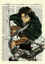Levi Attack On Titan Anime Dictionary Art Print Poster Picture Book Japan Manga