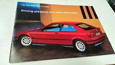 BMW 316I COMPACT Australian Sales Brochure