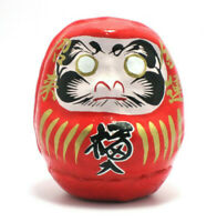 "Japanese 2-1/4""H Red Daruma Doll Papermache for Rich Life & Energy Made in Japan"