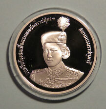 1991 Thailand 600 Baht Silver Proof Coin Princess Sirindhorn 36th Birthday 2534