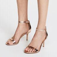Sam Edelman Patti Ankle Strap Sandal Heels Women's Size 8M Rose Gold