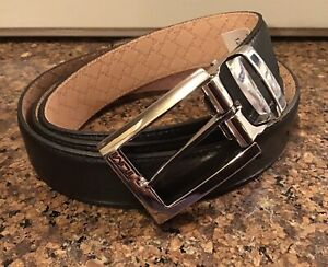 New Tumi Leather Belt 015469NSD-OS MADE IN FRANCE Black