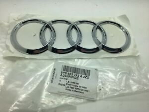 Audi A3 8P 09-13 RS3 11-13 R8 Badge Boot Rear Chrome Rings Emblem Genuine New