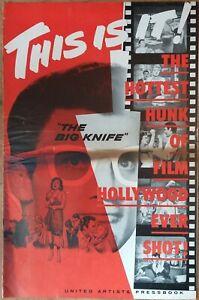 THE BIG KNIFE, Jack Palance, Ida Lupino, 1955, Pressbook 627