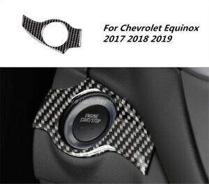 For Chevrolet Equinox 2017-2019 Carbon fiber Interior The Ignition Key Ring Trim