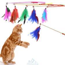 5X Katze Katzenangel Spielzeug Feder Rod Katzenspielzeug Verstellbar Spielangel