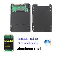 mSATA SSD to 2.5 inch SATA 3 Adapter Card with 7mm Aluminium Thickness Case