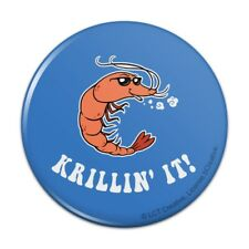 Krillin' It Killing Funny Humor Pinback Button Pin