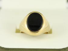 Onyx Signet Ring 18ct Gold Gent's Pinky Size K 3/4 750 8g Da60