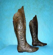 bottes genoux ONE STEP tout cuir marron p 37 fr tres bon etat