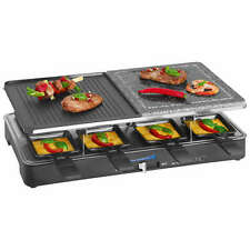 Clatronic RG 3518 Raclette grill piedra natural placa reversible, 8 personas