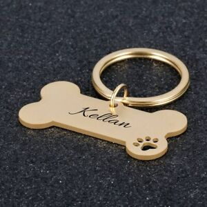 Personalized ID Tag Pet Dog Engraved Collar Name Custom Tags Cat Slide Puppy