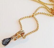 collier pendentif rétro couleur or solitaire CZ saphir déco cz diamant 3243